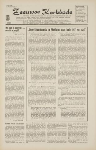 Zeeuwsche kerkbode, weekblad gewijd aan de belangen der gereformeerde kerken/ Zeeuwsch kerkblad 1966-07-21