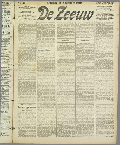 De Zeeuw. Christelijk-historisch nieuwsblad voor Zeeland 1919-11-18