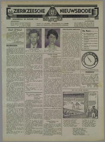 Zierikzeesche Nieuwsbode 1937-01-28