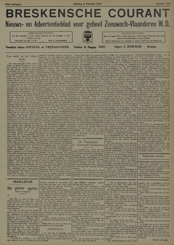 Breskensche Courant 1939-02-14