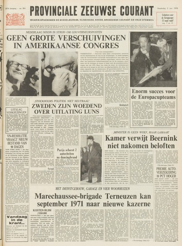Provinciale Zeeuwse Courant 1970-11-05