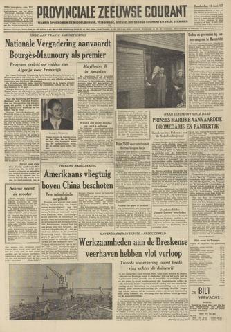 Provinciale Zeeuwse Courant 1957-06-13