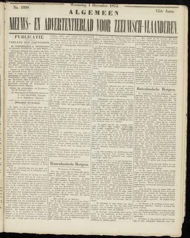 Ter Neuzensche Courant. Algemeen Nieuws- en Advertentieblad voor Zeeuwsch-Vlaanderen / Neuzensche Courant ... (idem) / (Algemeen) nieuws en advertentieblad voor Zeeuwsch-Vlaanderen 1875-12-01