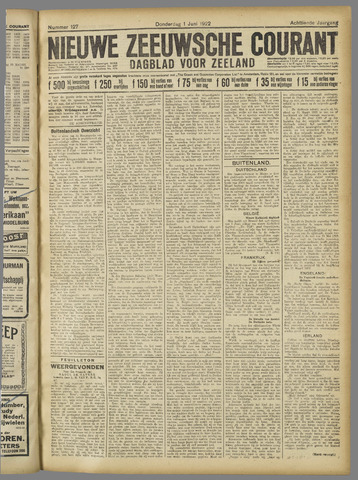 Nieuwe Zeeuwsche Courant 1922-06-01