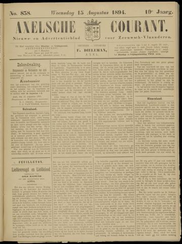 Axelsche Courant 1894-08-15