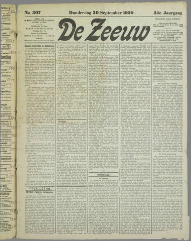 De Zeeuw. Christelijk-historisch nieuwsblad voor Zeeland 1920-09-30