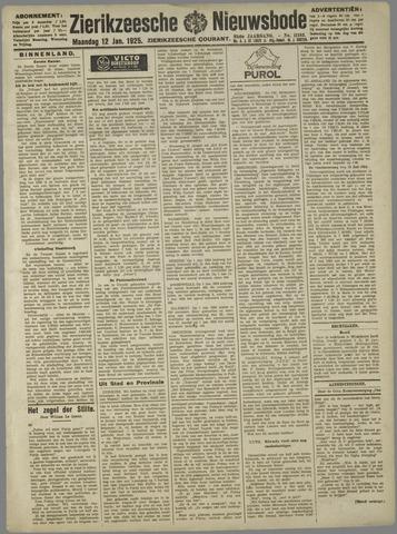 Zierikzeesche Nieuwsbode 1925-01-12