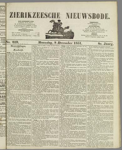 Zierikzeesche Nieuwsbode 1851-12-08