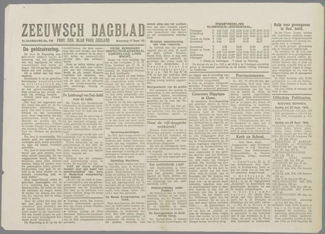 Zeeuwsch Dagblad 1945-09-17