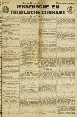 Ierseksche en Thoolsche Courant 1918-09-14