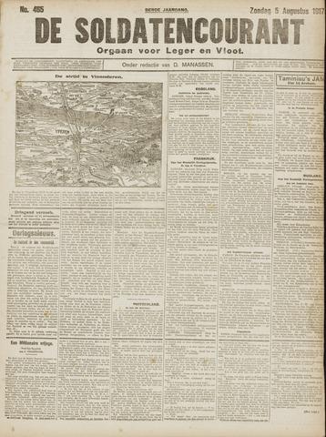 De Soldatencourant. Orgaan voor Leger en Vloot 1917-08-05