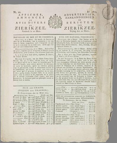 Zierikzeesche Courant 1812