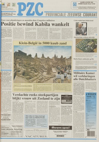 Provinciale Zeeuwse Courant 1998-08-15