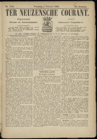 Ter Neuzensche Courant. Algemeen Nieuws- en Advertentieblad voor Zeeuwsch-Vlaanderen / Neuzensche Courant ... (idem) / (Algemeen) nieuws en advertentieblad voor Zeeuwsch-Vlaanderen 1882-02-01
