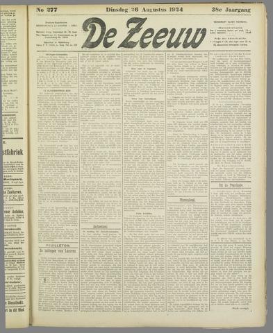 De Zeeuw. Christelijk-historisch nieuwsblad voor Zeeland 1924-08-26