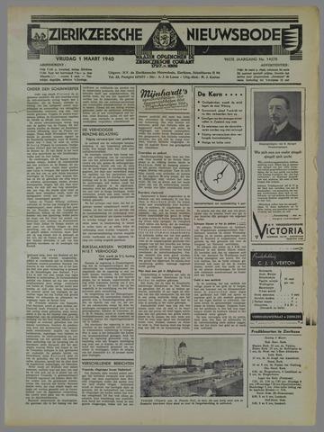 Zierikzeesche Nieuwsbode 1940-03-01