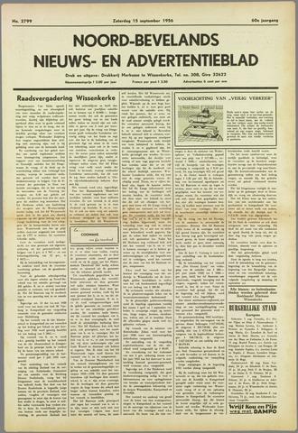 Noord-Bevelands Nieuws- en advertentieblad 1956-09-15