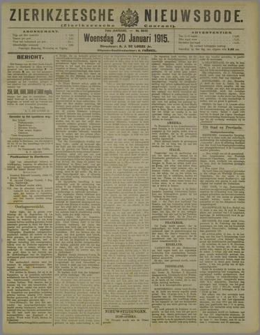 Zierikzeesche Nieuwsbode 1915-01-20