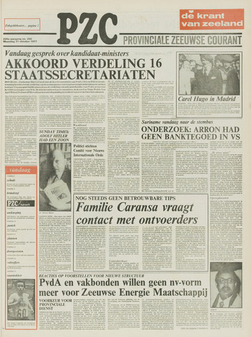Provinciale Zeeuwse Courant 1977-10-31