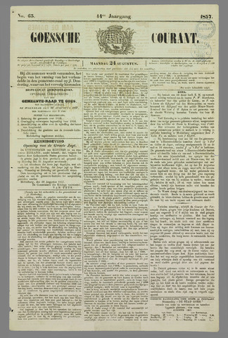 Goessche Courant 1857-08-24