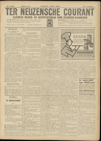 Ter Neuzensche Courant. Algemeen Nieuws- en Advertentieblad voor Zeeuwsch-Vlaanderen / Neuzensche Courant ... (idem) / (Algemeen) nieuws en advertentieblad voor Zeeuwsch-Vlaanderen 1938-04-01