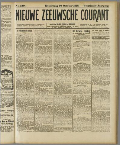 Nieuwe Zeeuwsche Courant 1918-10-10