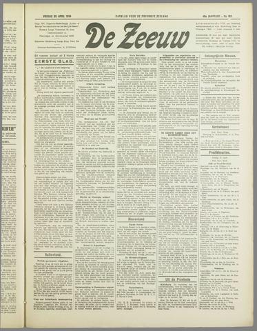 De Zeeuw. Christelijk-historisch nieuwsblad voor Zeeland 1934-04-20