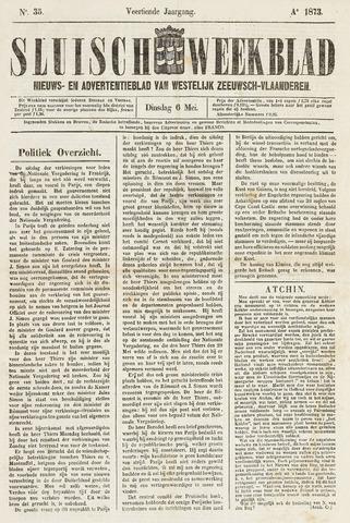 Sluisch Weekblad. Nieuws- en advertentieblad voor Westelijk Zeeuwsch-Vlaanderen 1873-05-06