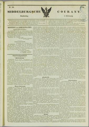 Middelburgsche Courant 1846-02-05