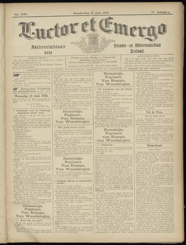 Luctor et Emergo. Antirevolutionair nieuws- en advertentieblad voor Zeeland / Zeeuwsch-Vlaanderen. Orgaan ter verspreiding van de christelijke beginselen in Zeeuwsch-Vlaanderen 1916-06-15