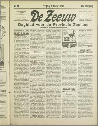 De Zeeuw. Christelijk-historisch nieuwsblad voor Zeeland 1929-01-11