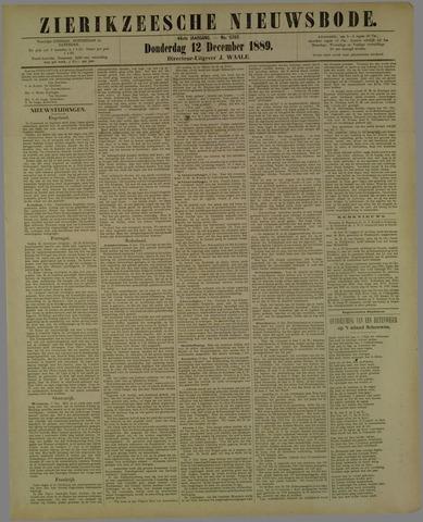 Zierikzeesche Nieuwsbode 1889-12-12