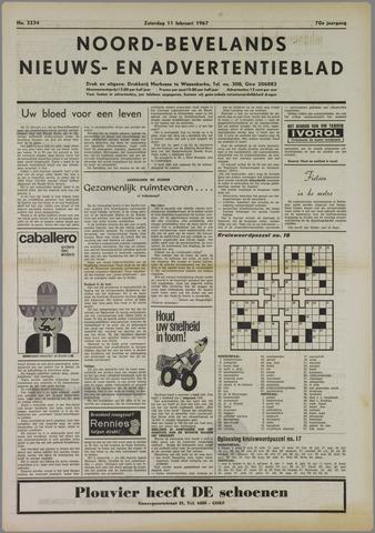 Noord-Bevelands Nieuws- en advertentieblad 1967-02-11