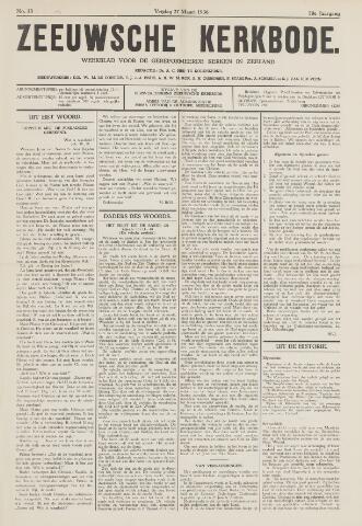 Zeeuwsche kerkbode, weekblad gewijd aan de belangen der gereformeerde kerken/ Zeeuwsch kerkblad 1936-03-27
