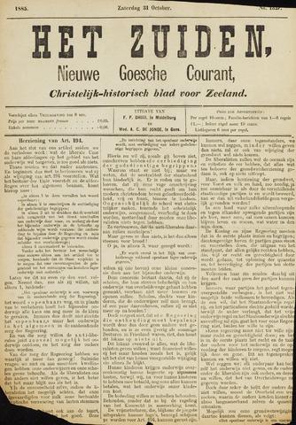 Het Zuiden, Christelijk-historisch blad 1885-10-31