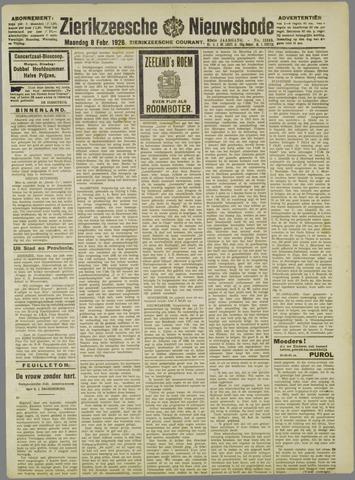 Zierikzeesche Nieuwsbode 1926-02-08