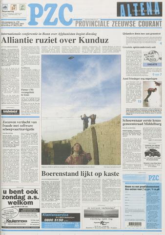 Provinciale Zeeuwse Courant 2001-11-24