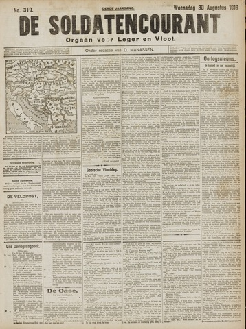 De Soldatencourant. Orgaan voor Leger en Vloot 1916-08-30