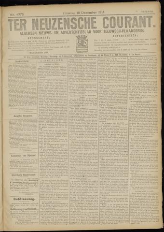 Ter Neuzensche Courant. Algemeen Nieuws- en Advertentieblad voor Zeeuwsch-Vlaanderen / Neuzensche Courant ... (idem) / (Algemeen) nieuws en advertentieblad voor Zeeuwsch-Vlaanderen 1918-12-10