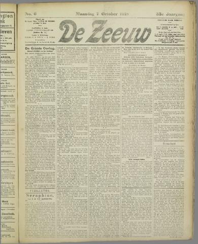 De Zeeuw. Christelijk-historisch nieuwsblad voor Zeeland 1918-10-07