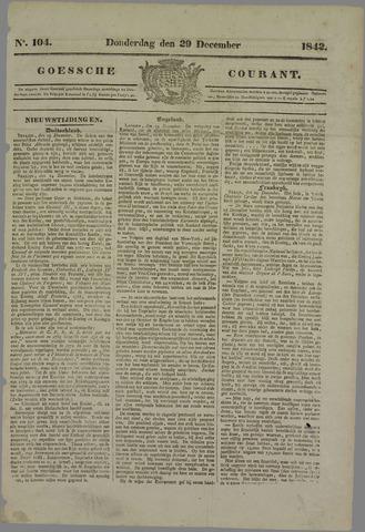Goessche Courant 1842-12-29