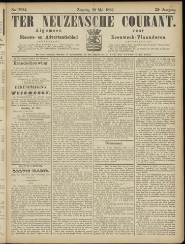 Ter Neuzensche Courant. Algemeen Nieuws- en Advertentieblad voor Zeeuwsch-Vlaanderen / Neuzensche Courant ... (idem) / (Algemeen) nieuws en advertentieblad voor Zeeuwsch-Vlaanderen 1893-05-20
