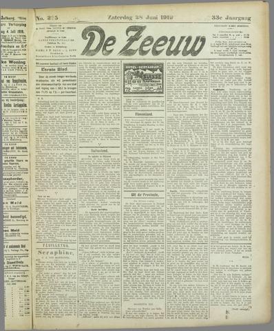De Zeeuw. Christelijk-historisch nieuwsblad voor Zeeland 1919-06-28