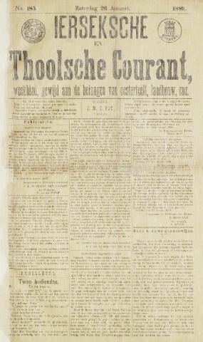 Ierseksche en Thoolsche Courant 1889-01-26