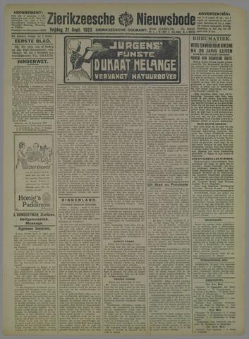 Zierikzeesche Nieuwsbode 1923-09-21