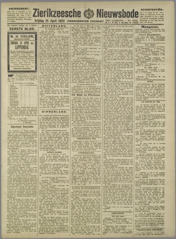 Zierikzeesche Nieuwsbode 1922-04-21