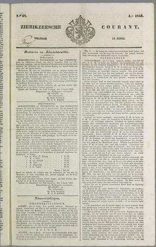 Zierikzeesche Courant 1844-06-14