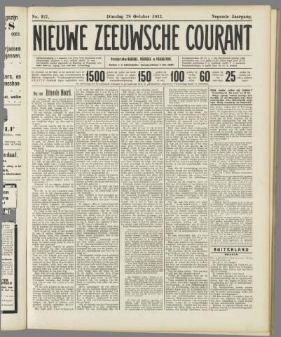 Nieuwe Zeeuwsche Courant 1913-10-28
