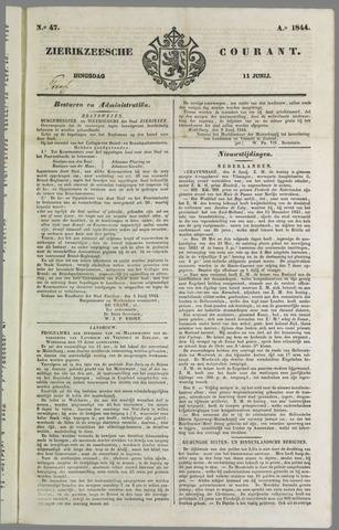 Zierikzeesche Courant 1844-06-11