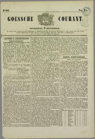 Goessche Courant 1852-09-02